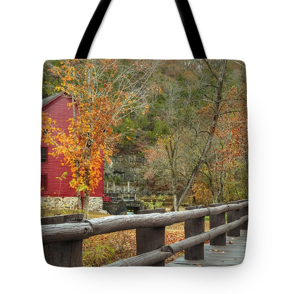 Red Grist Mill Front Entrance Tote Bag