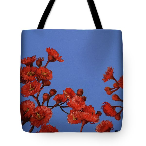 Red Gum Blossoms Tote Bag
