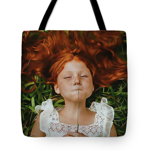 Tote Bag featuring the painting Red by Harry Warrick