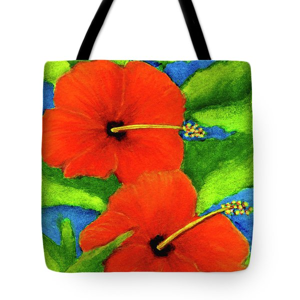 Red Hawaii Hibiscus Flower #267 Tote Bag by Donald k Hall