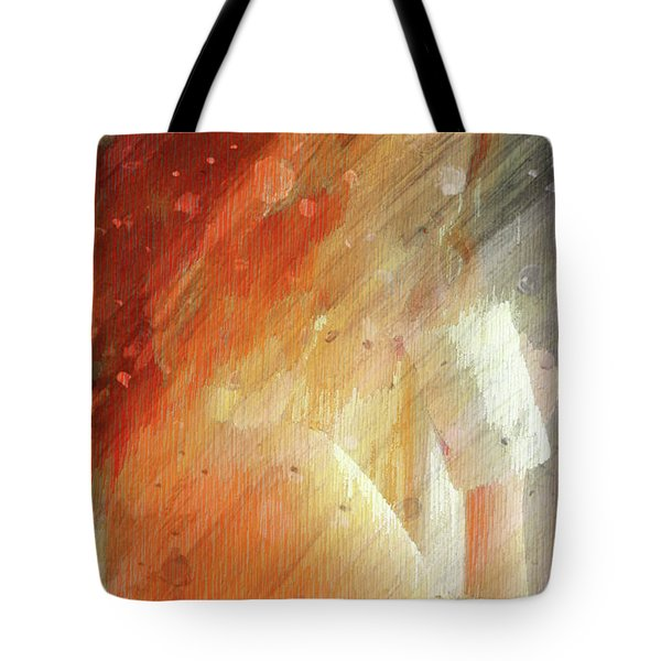 Red Head Drinking Coffee Tote Bag