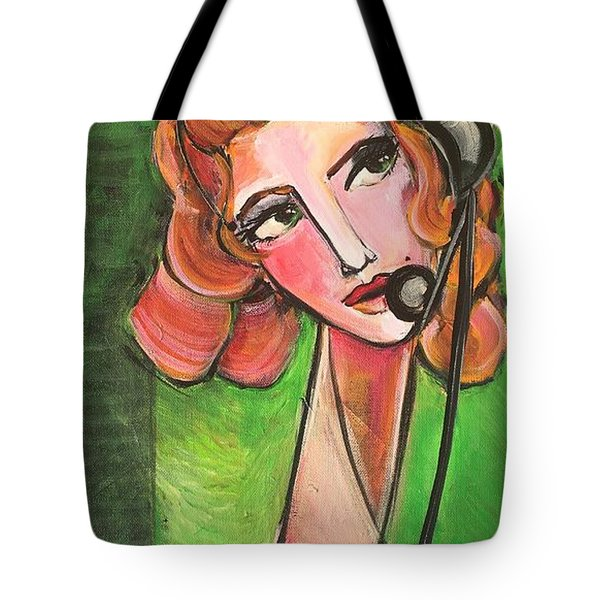Tote Bag featuring the painting Red Headed Operator by Laurie Maves ART