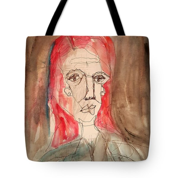 Red Headed Stranger Tote Bag by A K Dayton
