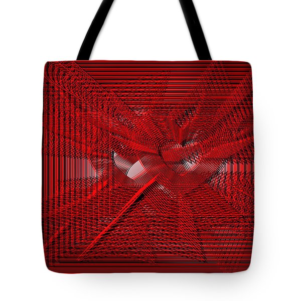 Red Heartwires Tote Bag