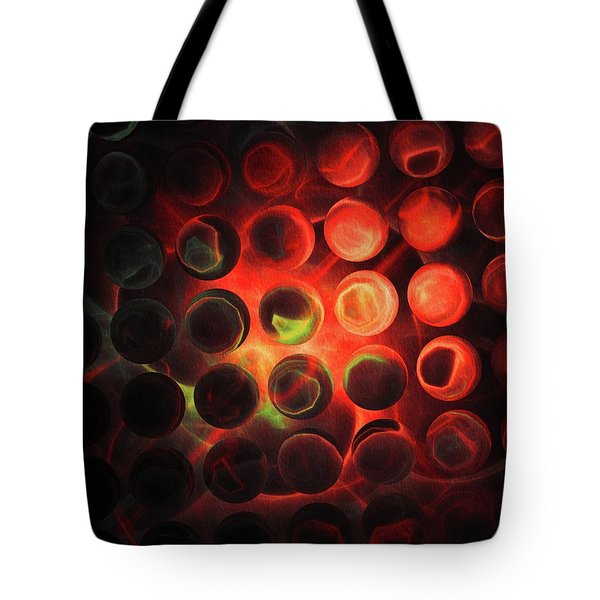 Red Heat Abstract Tote Bag