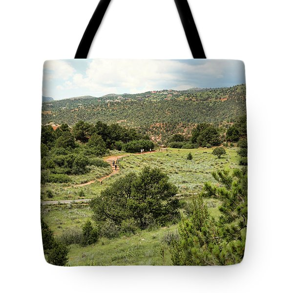 Red Hiking Trail Tote Bag
