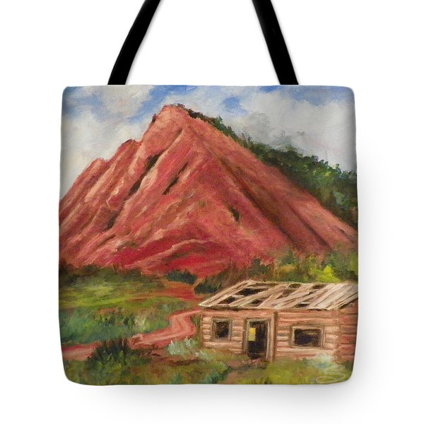Red Hill And Cabin Tote Bag