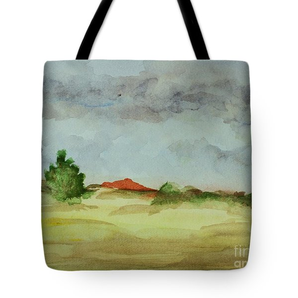 Red Hill Landscape Tote Bag by Vonda Lawson-Rosa
