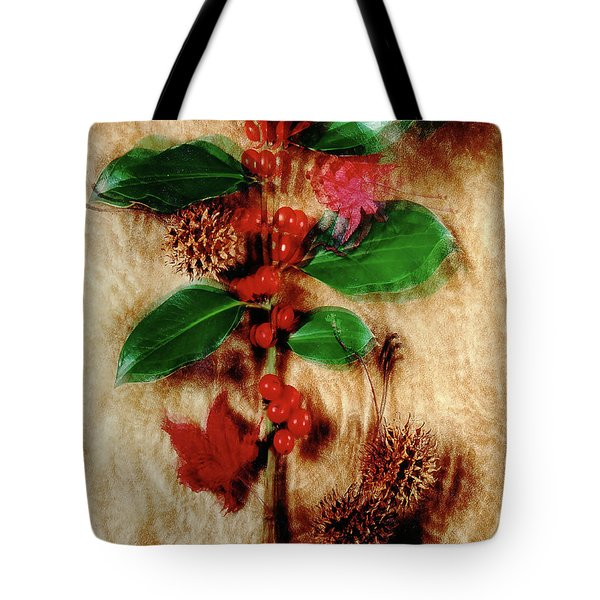 Red Holly Spinning Tote Bag