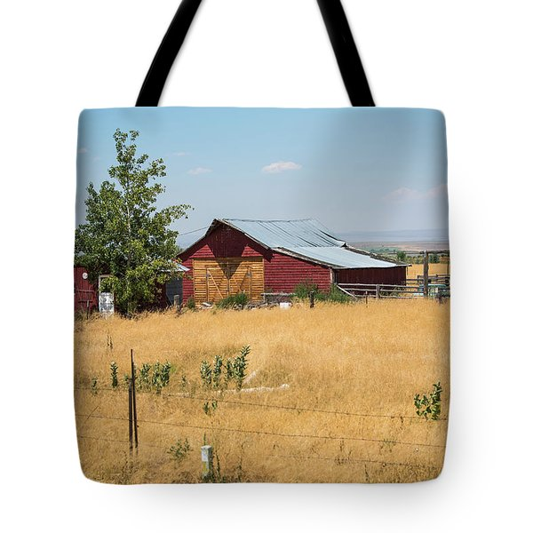 Red Home On The Range Tote Bag