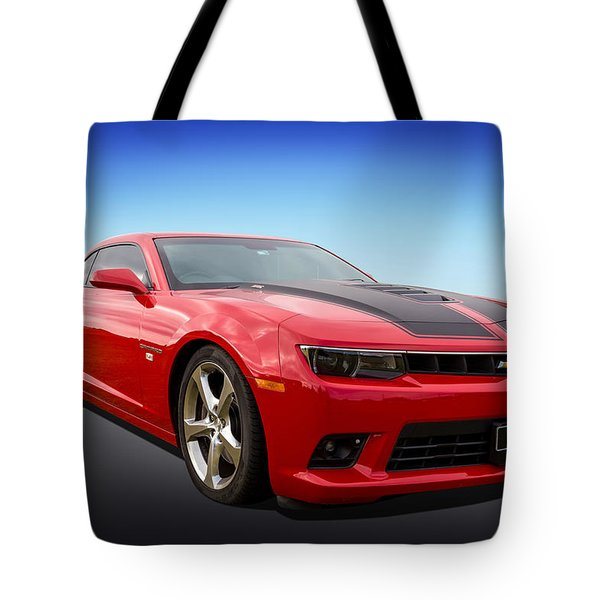 Tote Bag featuring the photograph Red Hot Camaro by Keith Hawley