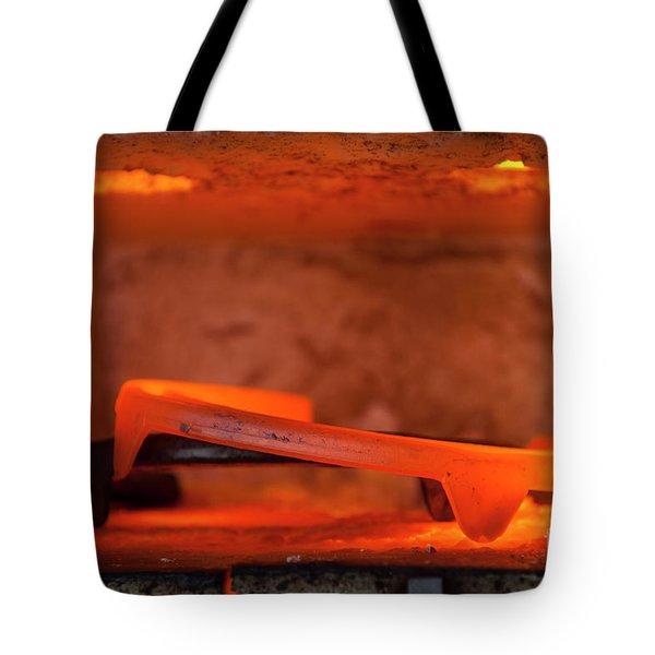 Red Hot Horseshoe Tote Bag