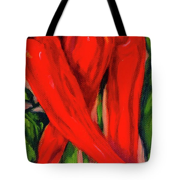 Red Hot Peppers Tote Bag