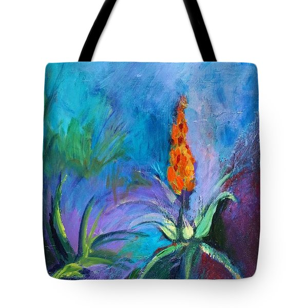 Red Hot Poker Tote Bag