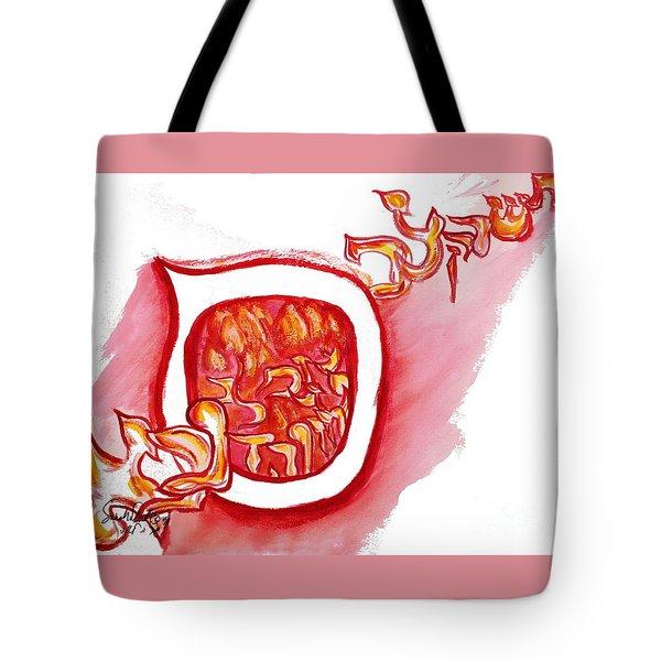 Red Hot Samech Tote Bag