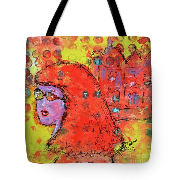 Tote Bag featuring the painting Red Hot Summer Girl by Claire Bull