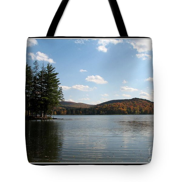 Red House Lake Allegany State Park Ny Tote Bag