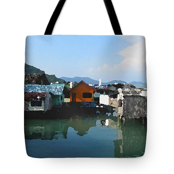 Red House On The Water Tote Bag
