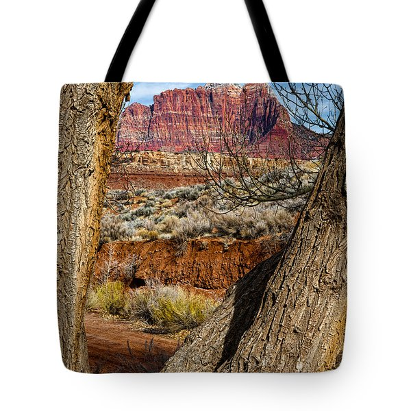 Red In The Distance Tote Bag by Christopher Holmes