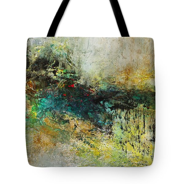 Red In The Landscape Tote Bag by Frances Marino