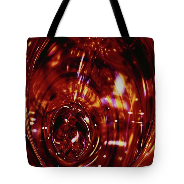 Red Inside Tote Bag