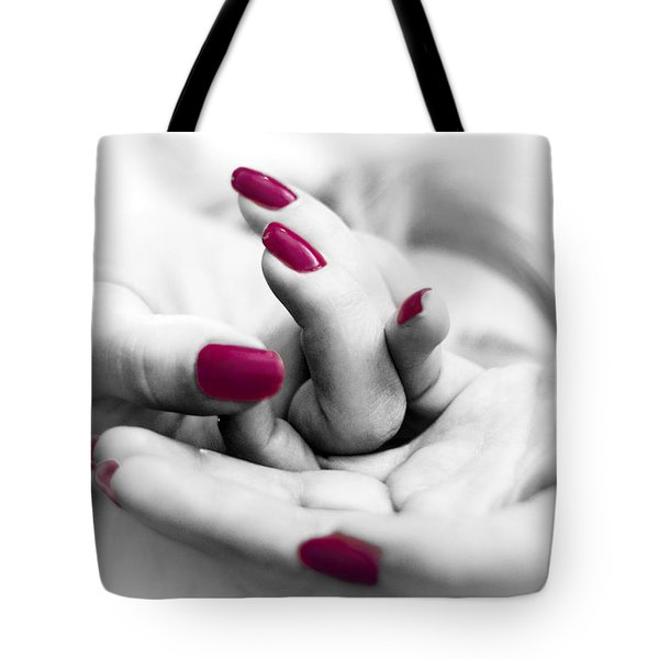 Red Is My Color Tote Bag by Stelios Kleanthous