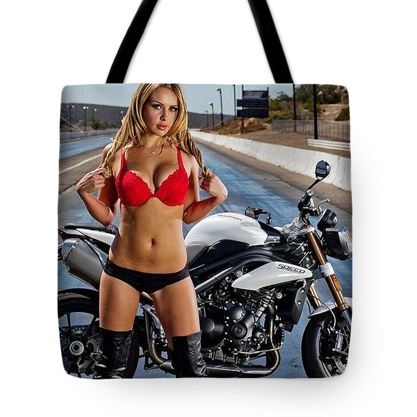 Red Is Not Always For Ducati Tote Bag by Lawrence Christopher