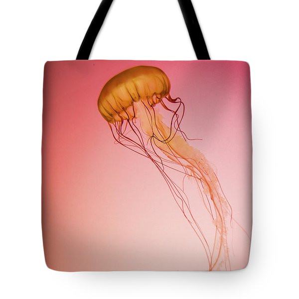 Red Jellyfish Tote Bag by Greg Slocum