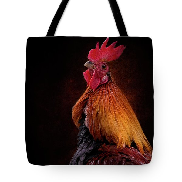 Red Jungle Fowl Rooster Tote Bag