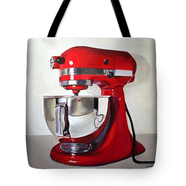 Red Kitchen Mixer Tote Bag