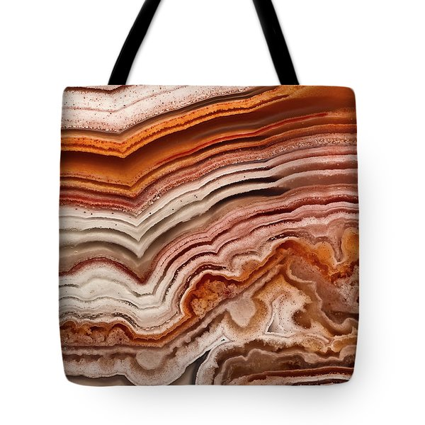 Red Laguna Lace Agate Tote Bag