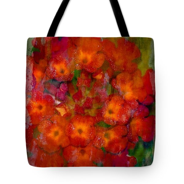 Red Lantana Tote Bag