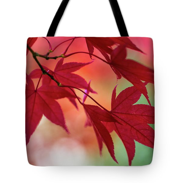 Tote Bag featuring the photograph Red Leaves by Clare Bambers