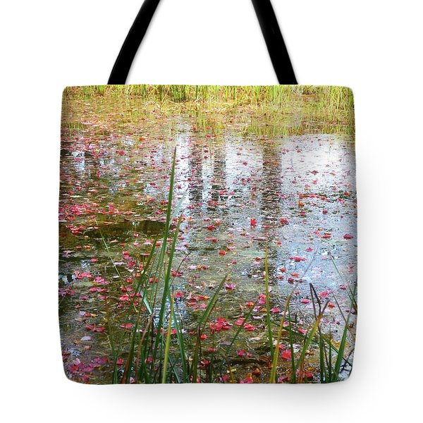 Tote Bag featuring the photograph Red Leaves Have Fallen by Michelle Calkins