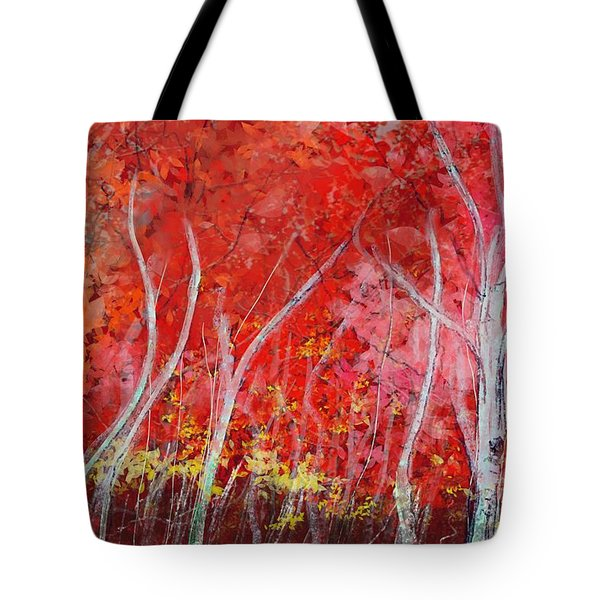 Crimson Leaves Tote Bag