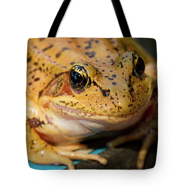 Tote Bag featuring the photograph Red Leg Frog by Jean Noren