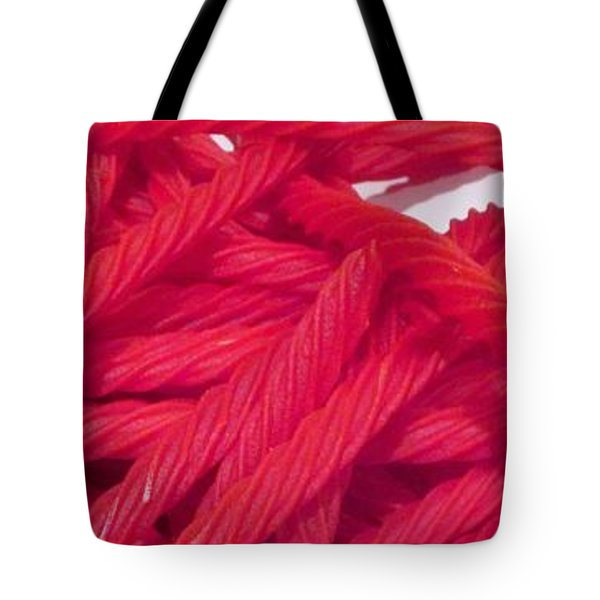 Red Licorice  Tote Bag by Martin Cline