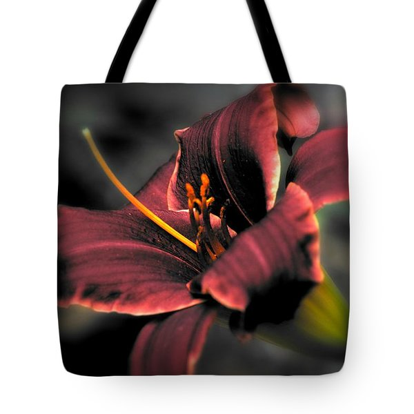 Red Lilly2 Tote Bag by Michaela Preston