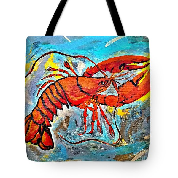 Red Lobster Abstract  Tote Bag by Scott D Van Osdol