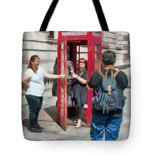 Red London Phone Box Tote Bag