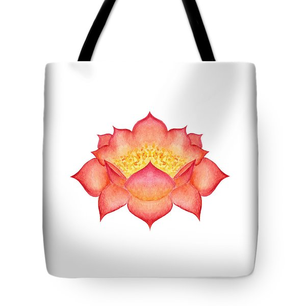 Tote Bag featuring the painting Red Lotus by Elizabeth Lock