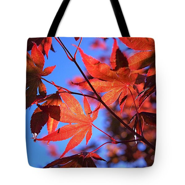 Red Maple Tote Bag by Rona Black