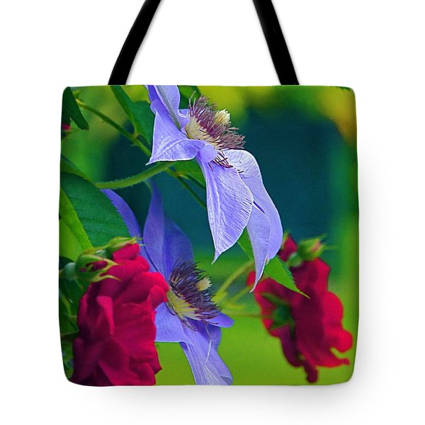 Red Meets Lavender Tote Bag
