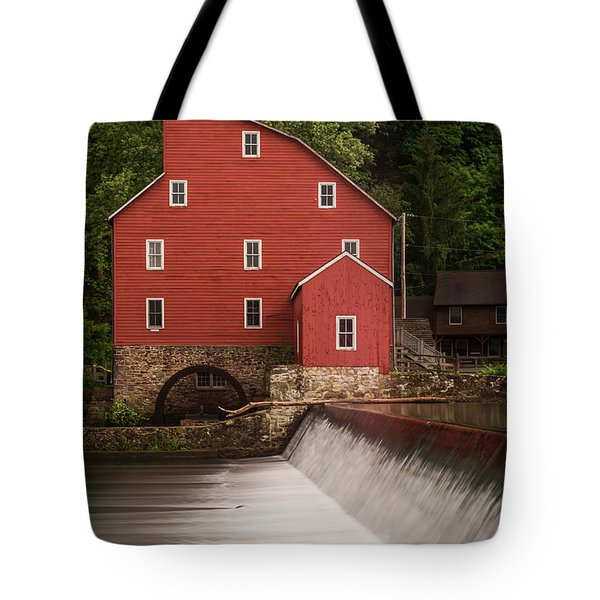 Red Mill Clinton New Jersey Tote Bag