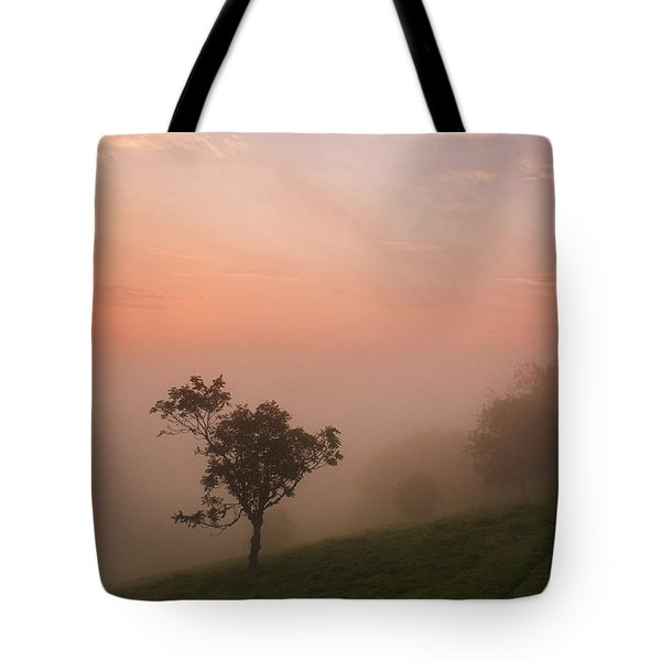 Red Mist On The South Downs Tote Bag by Hazy Apple