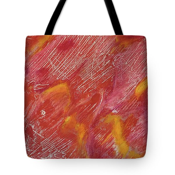 Red Monoprint One Tote Bag