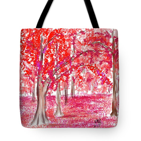 Red Mood Tote Bag by Angela A Stanton