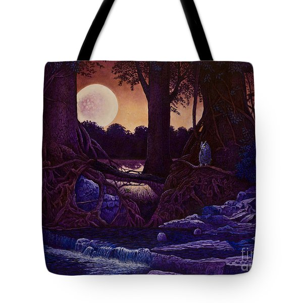 Red Moon Tote Bag by Michael Frank
