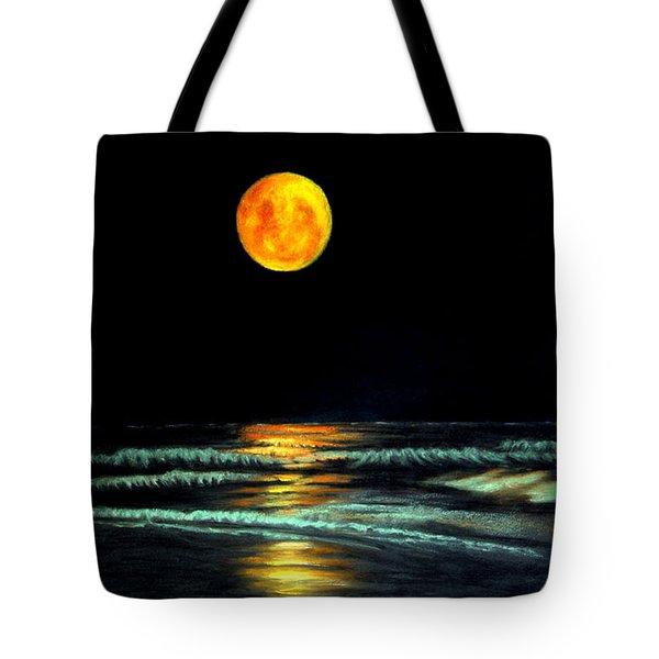Red Moon Rising Tote Bag by Antonia Citrino