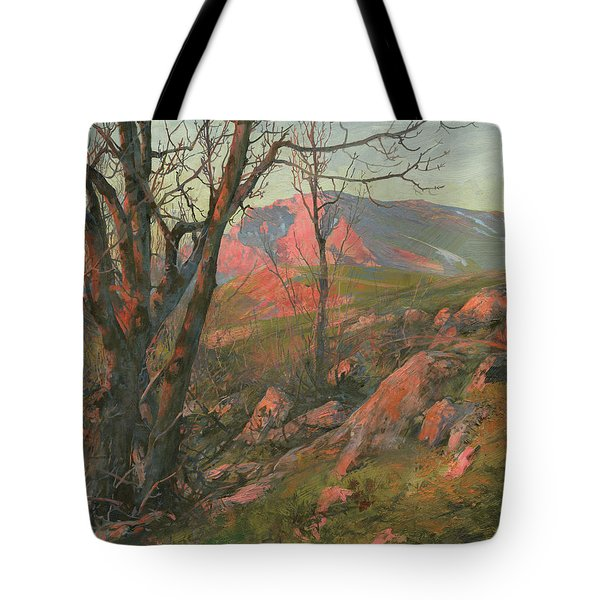 Red Morning On The Chatir-dag In May  Tote Bag